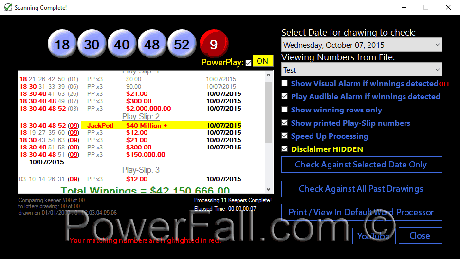 THE LOTTERY PICKER™ 2019 Lottery Software